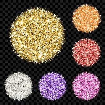 Ensemble de paillettes colorées
