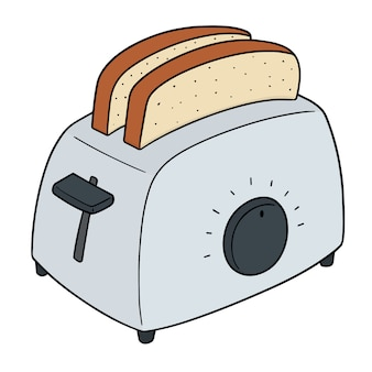 Ensemble de pain et grille-pain