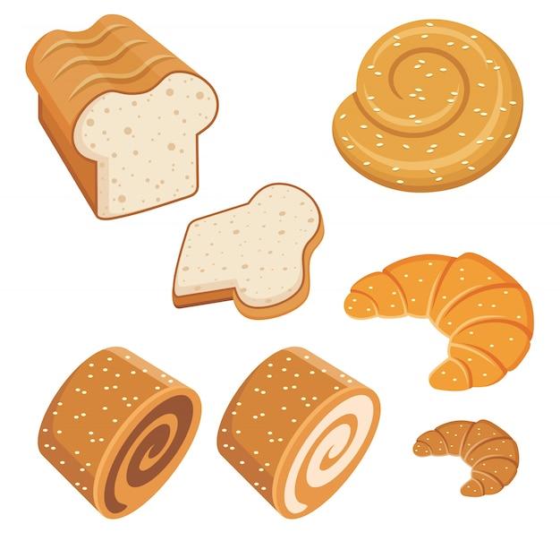 Ensemble de pains et de pain.