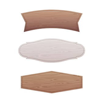 Ensemble de panneau en bois vide