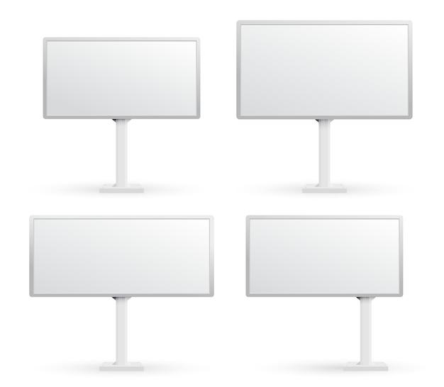 Ensemble de panneaux d'affichage vide. concept graphique