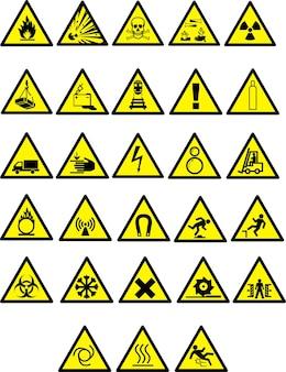 Ensemble de panneaux d'avertissement