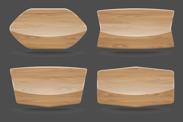 Ensemble de panneaux en bois avec brillant