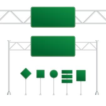 Ensemble de panneaux de signalisation isolés sur fond transparent. illustration vectorielle de stock.