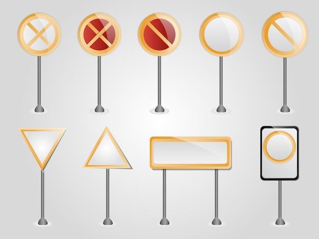 Ensemble de panneaux de signalisation