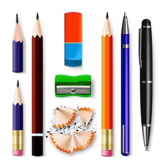 Ensemble de papeterie crayon