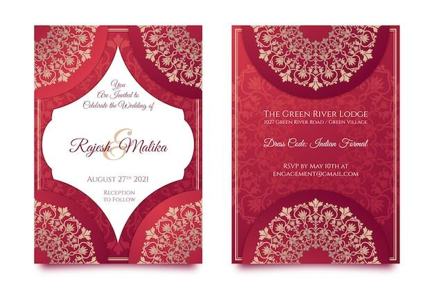 Ensemble de papeterie de mariage indien