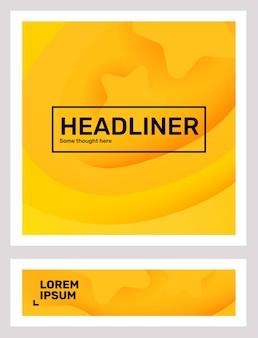 Ensemble de papier abstrait de couleur jaune créatif coupé style illustration composition dentreprise