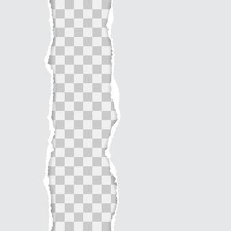 Ensemble de papier déchiré blanc avec des ombres