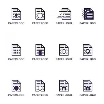 Ensemble de papier logo pack
