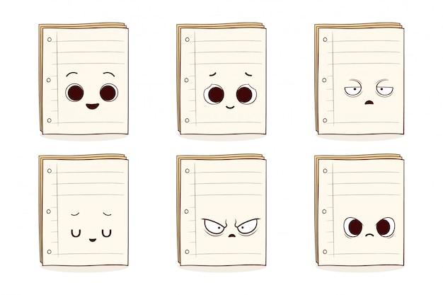 Ensemble de papier mignon