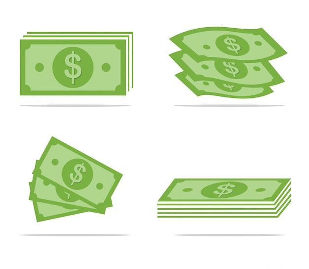 Ensemble de papier-monnaie