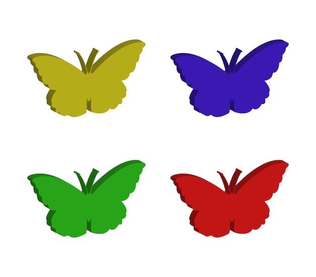 Ensemble de papillons