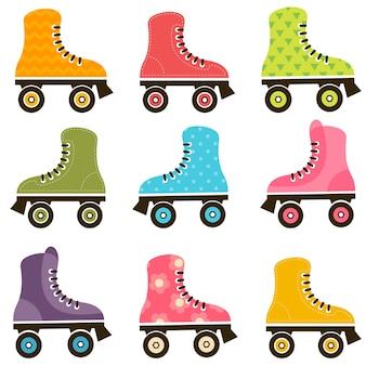 Ensemble de patins à roulettes à motifs