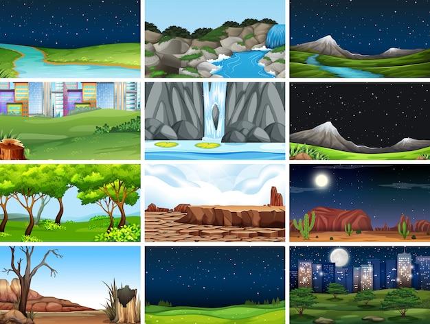 Ensemble de paysage naturel