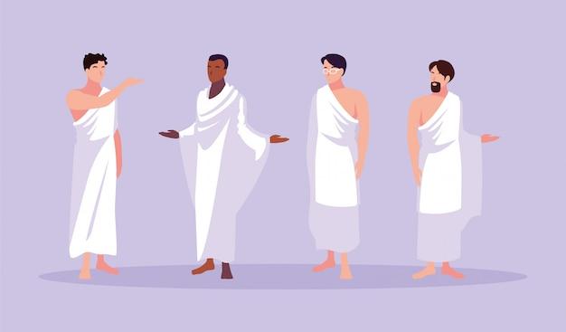 Ensemble de pèlerinage du pèlerinage des hommes