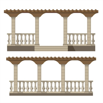 Ensemble de pergola de vecteur