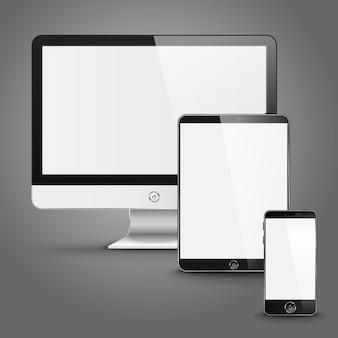Ensemble de périphériques d'écran de toutes tailles pour l'aperçu du site