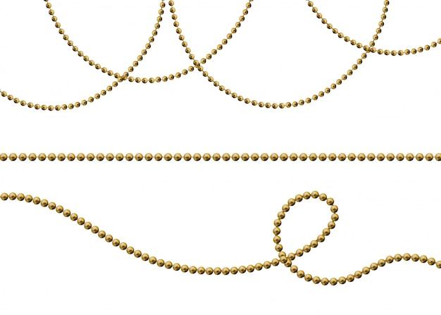 Ensemble de perles d'or