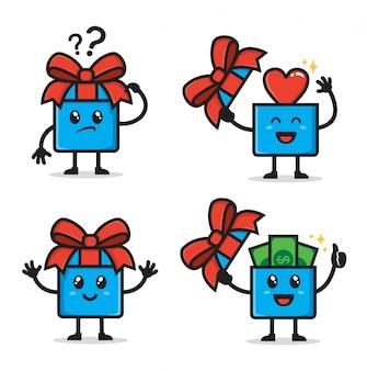 Ensemble de personnage de cadeau surprise mignon