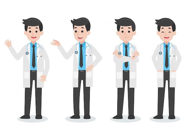 Ensemble de personnage de docteur