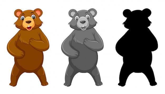 Ensemble de personnage grizzli