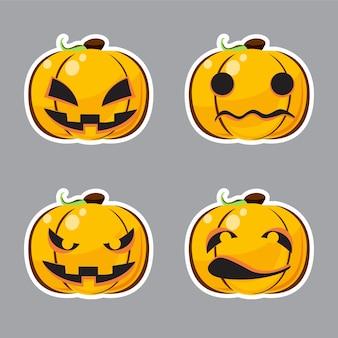 Ensemble de personnage d'halloween.