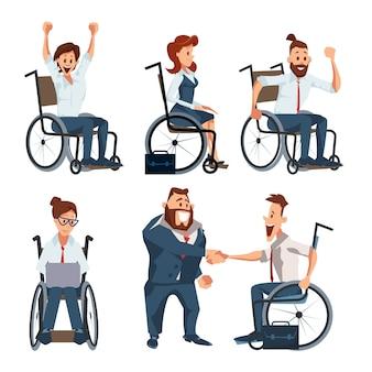 Ensemble de personnages de carrière pour personnes handicapées