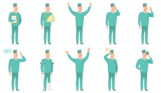 Ensemble de personnages chirurgiens
