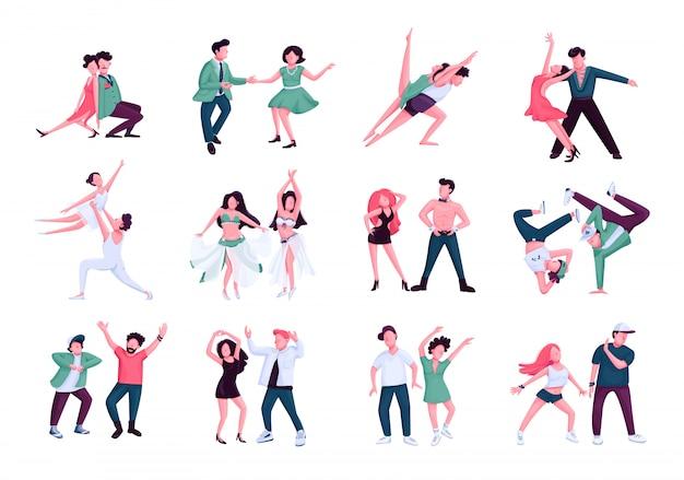 Ensemble de personnages de danse partenaire