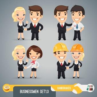 Ensemble de personnages de dessin animé homme d'affaires