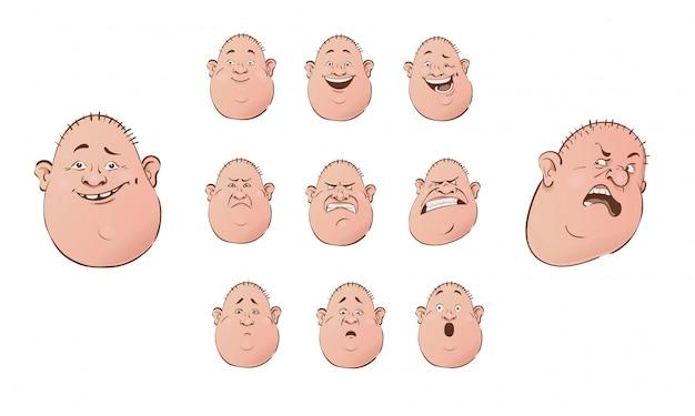 Ensemble de personnages emoji masculins