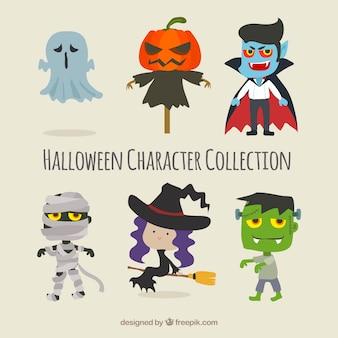 Ensemble de personnages de halloween