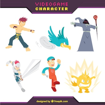 Ensemble de personnages de jeu vidéo