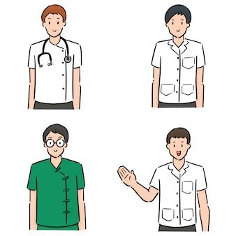 Ensemble de personnel médical