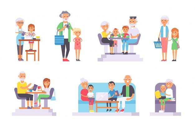 Ensemble de personnes âgées et jeunes.