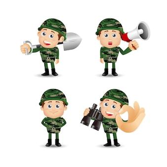 Ensemble de personnes armée de profession