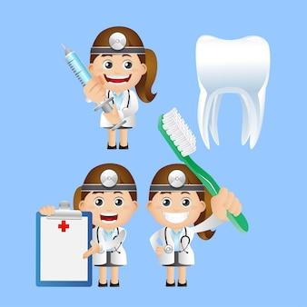 Ensemble de personnes. dentiste
