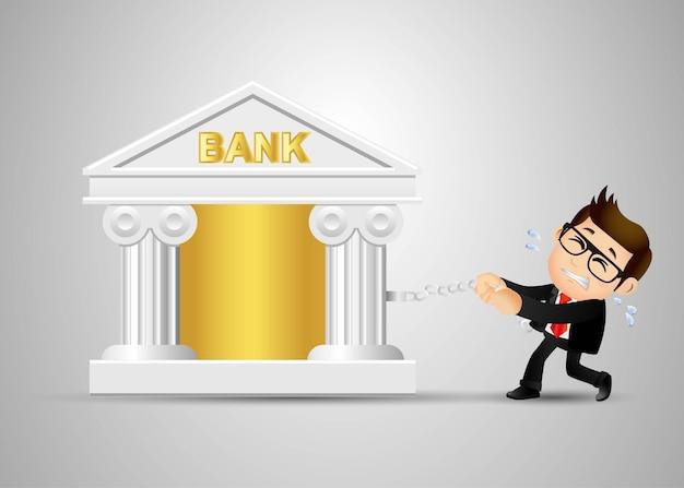 Ensemble de personnes - entreprise - entreprise - concept de dette