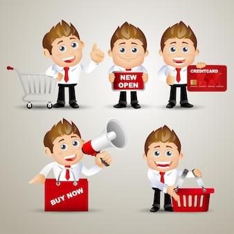 Ensemble de personnes - entreprise -vente