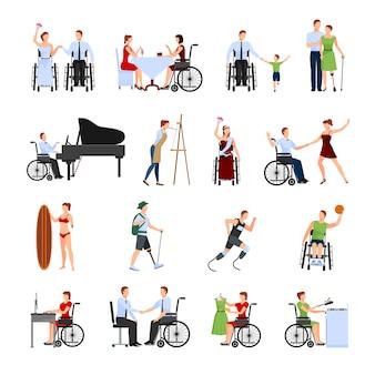 Ensemble de personnes handicapées