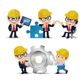 Ensemble de personnes ingénieur profession