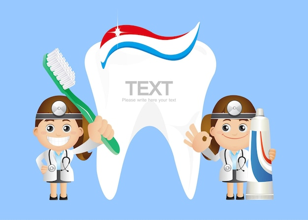 Ensemble de personnes - profession - dentiste