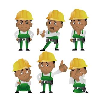 Ensemble de personnes - profession - travailleur. constructeur