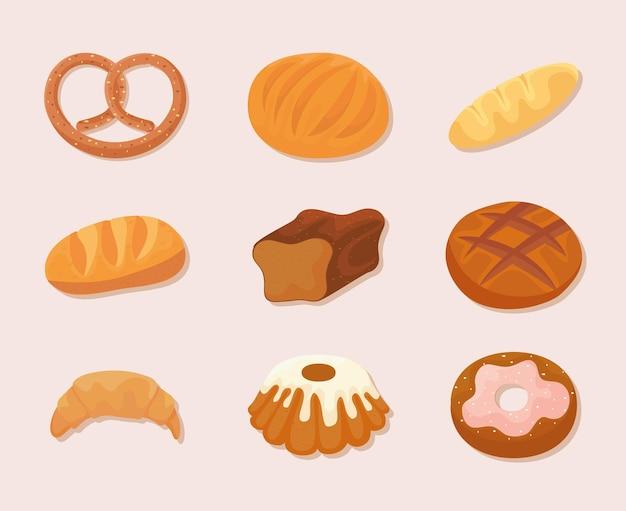 Ensemble de pièces de boulangerie