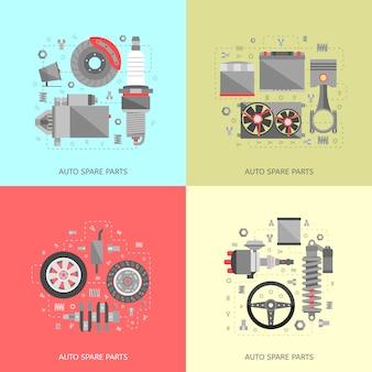 Ensemble de pièces détachées automobiles