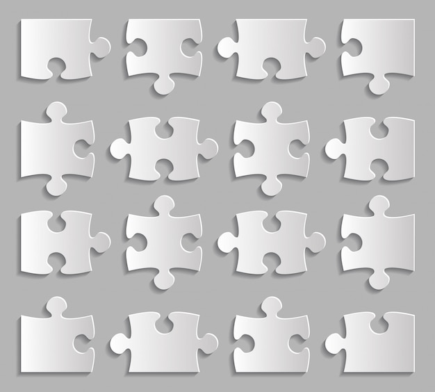 Ensemble de pièces de puzzle