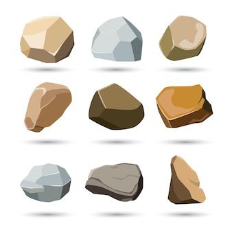 Ensemble de pierre et de roche
