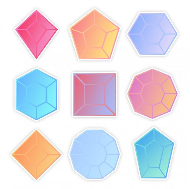 Ensemble de pierres colorées