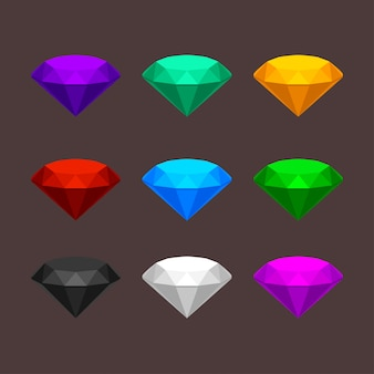 Ensemble de pierres précieuses